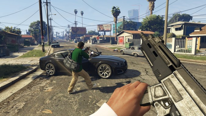 GTA V on PS4 screenshot in First Person View