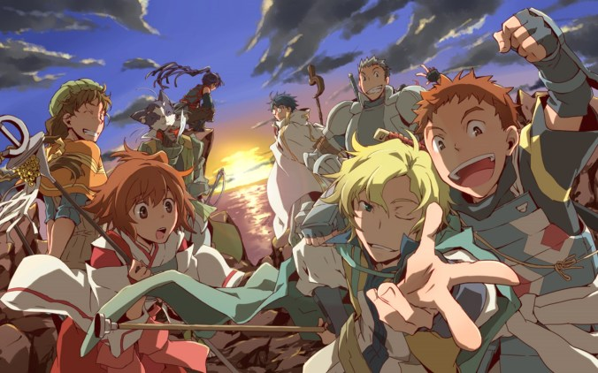 Log Horizon Main Characters in Front Banner
