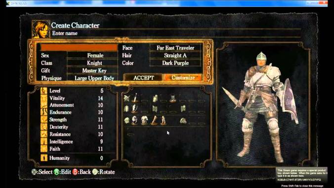 Character Creation DS2