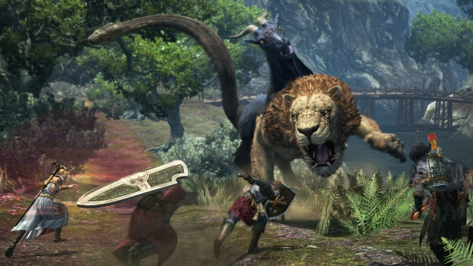 Dragons Dogma Online Lion Battle