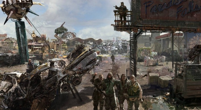 Fallout Town looking run down