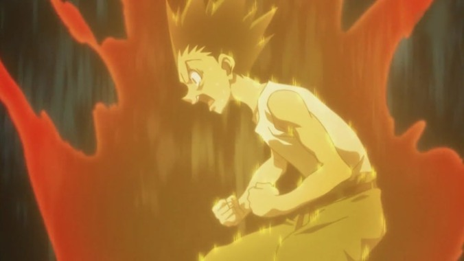 Gon of Hunter x Hunter Begins to Power up