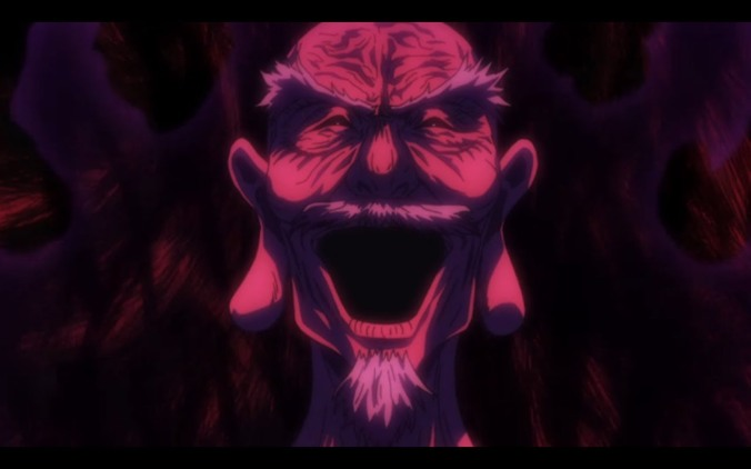 Netero Laughing at King of Ants