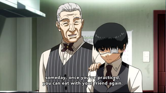 Kaneki is comforting