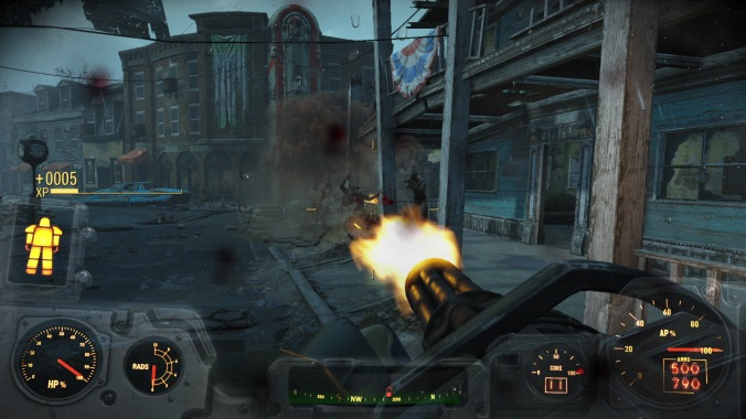 Fallout Mini Gun in Action