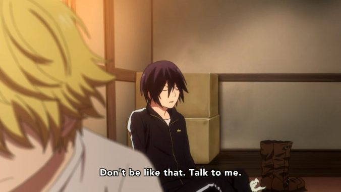 Yato implores Yukine to talk to him